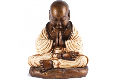 Statue de Moine Shaolin 25 cm - Blanc