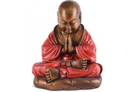 Statue de Moine Shaolin 25 cm - Rouge