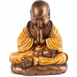 Statue de Moine Shaolin 25 cm - Orange