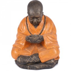 Statue de moine Bouddhiste 60 cm - Orange