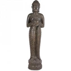 Statue Bouddha debout Offrande 150 cm - Brun