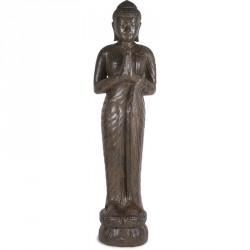 Statue Bouddha debout Prière 150 cm - Brun