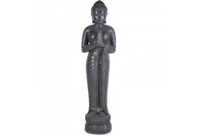 Statue Bouddha debout Prière 150 cm - Gris