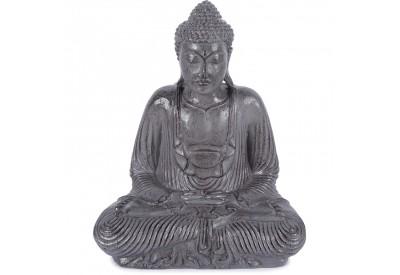 Statue Bouddha 42 cm Dhyāna Mudrā - Gris