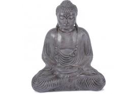 Statue Bouddha assis 55 cm - Gris