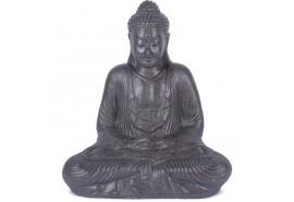 Statue Bouddha 62 cm Dhyāna Mudrā - Gris