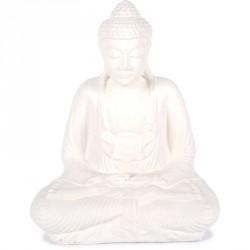 Statue Bouddha 42 cm Dhyāna Mudrā - Blanc