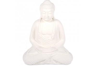 Statue Bouddha 55 cm Dhyāna Mudrā - Blanc