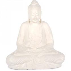 Statue Bouddha 62 cm Dhyāna Mudrā - Blanc
