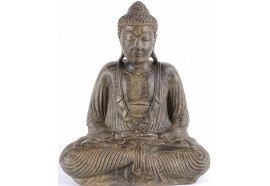 Statue Bouddha 42 cm Dhyāna Mudrā - Brun