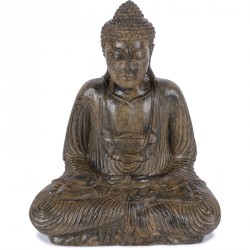 Statue Bouddha 55 cm Dhyāna Mudrā - Brun