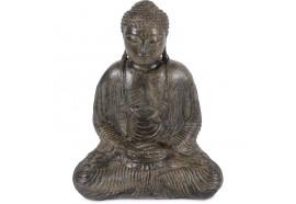 Statue Bouddha 62 cm Dhyāna Mudrā - Brun