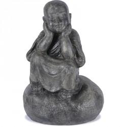 Statue Moine Penseur 80 cm - Gris