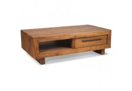 Table basse rectangulaire en teck Oregon L 130 cm - CASITA