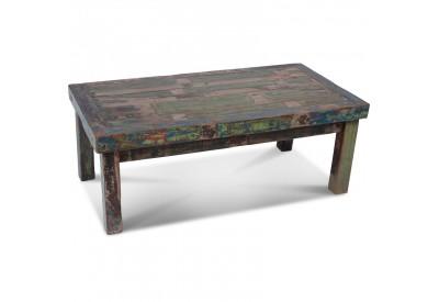 Table basse Blora en bois de bateau recyclé
