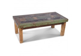 Table basse Pita en bois de bateau recyclé