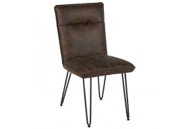 Chaise marron en polyester