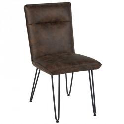 Chaise marron en polyester - CASITA
