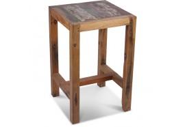 Table mange-debout en bois de bateau 70x70 cm