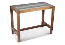 Table haute Oda en bois de bateau recyclé 140 x 70 cm
