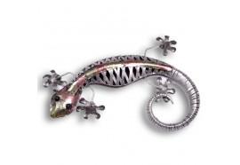 Gecko décoratif en métal - 75 x 43 cm