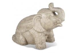 Statue de jardin éléphant Thaïlandais 80 cm
