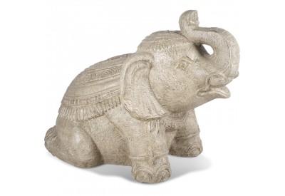 Statue de jardin éléphant Old White 80 cm