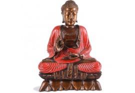 Statuette Bouddha Vitarka-mudrā - Rouge