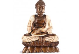 Statuette Bouddha Vitarka-mudrā - Blanc