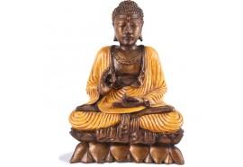 Statuette Bouddha Vitarka-mudrā - Orange
