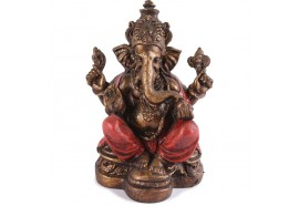 Statuette Ganesh 17 cm - Rouge