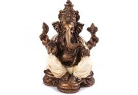 Statuette Ganesh 17 cm - Blanc