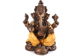 Statuette Ganesh 17 cm - Orange