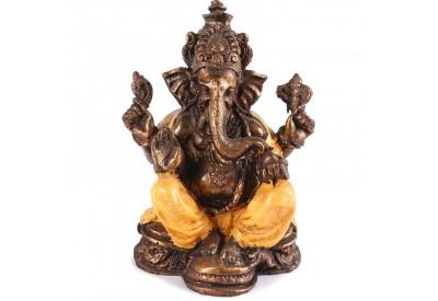 Statuette Ganesh 17 cm - Orange