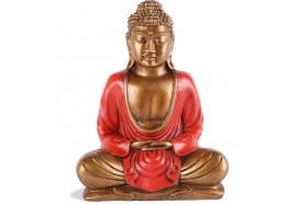 Statue Bouddha Thaïlandais 20 cm - Rouge