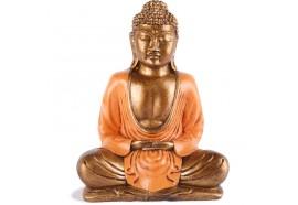 Statue Bouddha Thaïlandais 20 cm - Orange