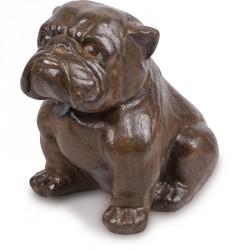 Statue Bulldog 42 cm - Brun