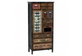 Armoire 18 tiroirs - 1 porte en bois & métal Harold - CASITA
