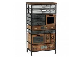Armoire 13 tiroirs en bois & métal Harold - CASITA