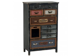 Armoire 10 tiroirs en bois & métal Harold - CASITA