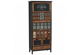 Armoire 21 tiroirs 1 porte en bois & métal Harold - CASITA