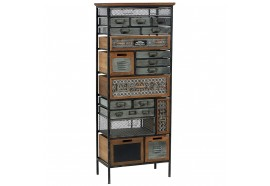 Armoire 19 tiroirs en bois & métal Harold - CASITA