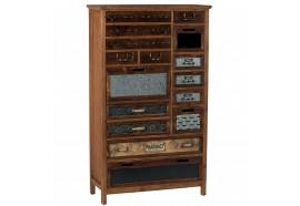 Armoirette 13 tiroirs 1 porte en bois & métal Harold - CASITA