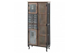Armoirette 7 tiroirs 3 portes en bois & métal Harold - CASITA