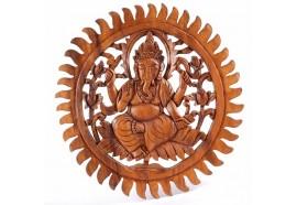 Décoration murale Ganesh en suar