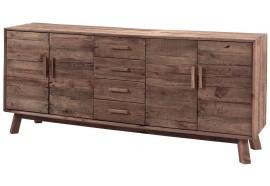 Bahut 4 portes 4 tiroirs en pin Kyrwood - Casita