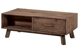 Table basse 2 tiroirs en pin Kyrwood - Casita