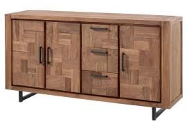 Bahut 2 portes 3 tiroirs en teck Kataya - Casita