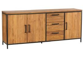 Bahut 3 portes 3 tiroirs en teck Roster - Casita