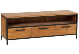 Meuble TV 3 tiroirs en teck & métal Roster - Casita
